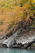 Fall color and slab rocks, Buffalo National River, Arkansas.