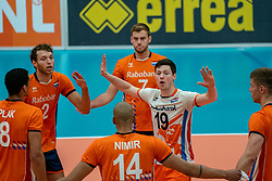 09-06-2019 NED: Golden League Netherlands - Spain, Koog aan de Zaan<br /> Fourth match poule B - The Dutch beat Spain again in five sets in the European Golden League / Wessel Keemink #2 of Netherlands, Just Dronkers #19 of Netherlands