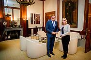 DEN HAAG - Koning Willem-Alexander ontvangt fractievoorzitter van de SP, Lilian Marijnissen op Paleis Noordeinde in Den Haag. ANP POOL ROYAL IMAGES PATRICK VAN KATWIJK