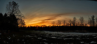 Backyard Sunrise Panorama. Composite of 10 images taken with a Fuji X-T2 camera and 16 mm f/1.4 lens (ISO 200, 16 mm, f/11, 1/60 sec). Raw images processed with Capture One Pro and AutoPano Giga Pro.