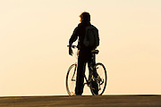 bike rider at Sunset
