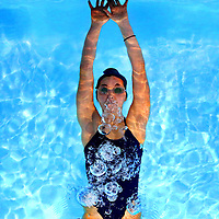 Maia Kamehiro-Stockwell is one of the swimmers on the that has the PCS girls team aiming high this season. (Shmuel Thaler/Sentinel)