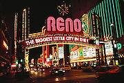 Neon arch over Virginia Street, Reno, Nevada.