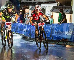 03.08.2012, Kaprun, AUT, Bike Infection, XC BATTLE, im Bild Dennis Ebert (NED), rechts Thomas Litscher (SUI) Sieger des XC Battle 2012. EXPA Pictures © 2012, PhotoCredit: EXPA/ Juergen Feichter