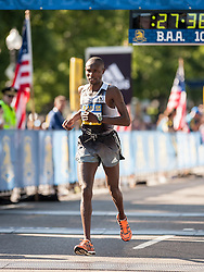 Boston Athletic Association 10K road race: Geoffrey Mutai crosses finish line in 2nd place