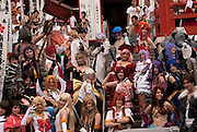 The parade of contestants and cosplayers held first day of the World Cosplay Summit, in Osu Kanon, Nagoya, Japan.