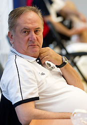 Head coach Bozidar Maljkovic during practice session of Slovenian National basketball team 1 day before Eurobasket Lithuania 2011, on August 29, 2011, in Arena Svyturio, Klaipeda, Lithuania. (Photo by Vid Ponikvar / Sportida)