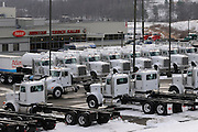 Truck dealer in the Fayette Business Park. .The fracking boom has resulted in a revitalisation of the local economy
