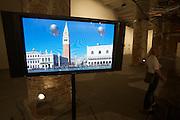 """Arsenale. International exhibition """"Fare Mondi // Making Worlds // Bantin Duniyan // ???? // Weltenmachen // Construire des Mondes // Fazer Mundos..."""" curated by Daniel Birnbaum..Hector Zamora, """"Sciame di dirigibili"""", 2009"""