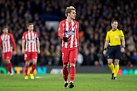 LONDON,ENGLAND - DECEMBER 05: Atletico Madrid (7) Antoine Griezmann during the UEFA Champions League group C match between Chelsea FC and Atletico Madrid at Stamford Bridge on December 5, 2017 in London, United Kingdom.  <br /> ( Photo by Sebastian Frej / MB Media )
