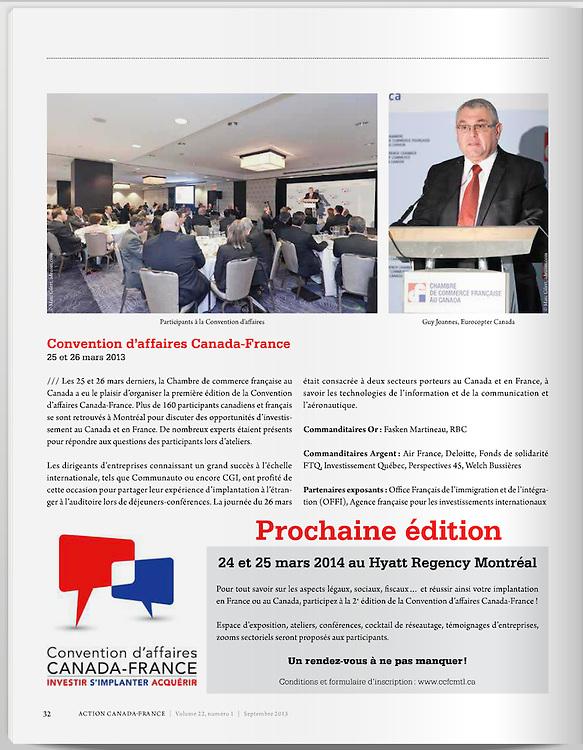 Magazine Action CCFC - CCAF 2013. Photos Marc Gibert / Adecom.ca