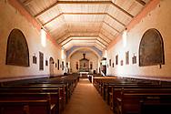 Mission San Antonio de Padua Chapel Interior, Monterey County, California