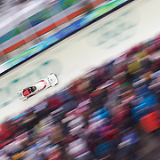 Winter Olympics, Vancouver, 2010.Helen Upperton ard Shelley-Ann Brown, Canada two, in action during the Bobsleigh Women's heat one competition at Whistler Sliding Centre, Whistler, during the Vancouver Winter Olympics. 23rd February 2010. Photo Tim Clayton