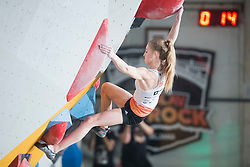 Urska Repusic (SLO) at Fnal of Climbing event - Triglav the Rock Ljubljana 2018, on May 19, 2018 in Congress Square, Ljubljana, Slovenia. Photo by Urban Urbanc / Sportida