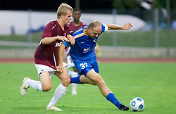 Henri Toivomaki  vs Milan Osterc of Gorica at 1st football match of 2nd preliminary Round of UEFA Europe League between ND Gorica and FC Lahti, on July 16 2009, in Nova Gorica, Slovenia. (Photo by Vid Ponikvar / Sportida)
