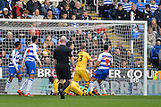 Fulham forward Moussa Dembele makes it 0-1 during the Sky Bet Championship match between Reading and Fulham at the Madejski Stadium, Reading, England on 5 March 2016. Photo by Adam Rivers.