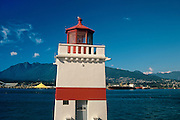 Brockton Point Lighthouse  in Stanley Park<br /> VAncouver<br /> British Columbia<br /> Canada