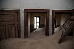 Mar 27, 2012 - Kolmanskop, Namibia - Buildings in an abandoned mining town on the Namibian coast are gradually overtaken by sand dunes. (Credit Image: © Elijah Hurwitz/ZUMAPRESS.com)