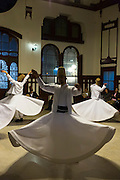 Whirling Dervish dance performance - Mevlevi Sema - costume ceremony (whirling dervishes) in Istanbul, Republic of Turkey