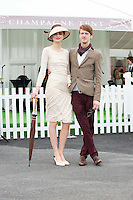 Maria Oxley Boardman and Liam Doherty Dublin at  the Anthony Ryan's Best Dressed ladies day at the Galway . Photo:Andrew Downes.Photo issued with Compliments, No reproduction fee on first use