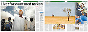 "Title: ""Life vanished with the drought"". Before fleeing bombs and Janjaweed, Mahamoud Anja had to endure years of drought and failing crops in his village Karnoy in Darfur. Writer: Frode Frøyland. Published in Dagens Næringsliv Sept. 2007."