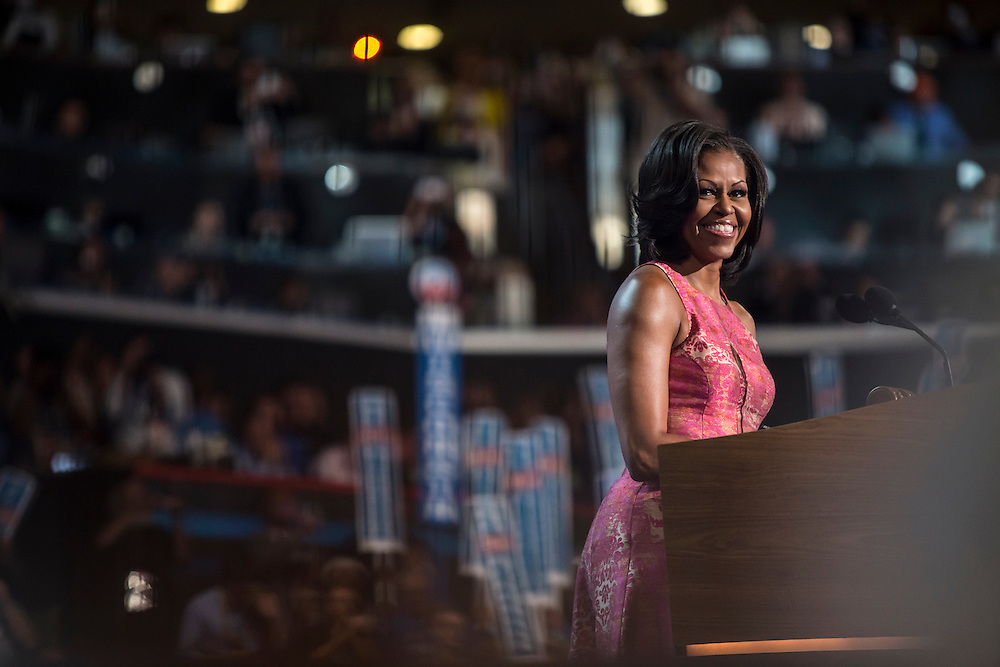 First Lady Michelle Obama speaks at the Democratic National Convention on Tuesday, September 4, 2012 in Charlotte, NC.