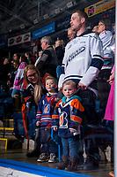 KELOWNA, CANADA - FEBRUARY 24:  Kamloops Blazers' fans at the Kelowna Rockets on February 24, 2018 at Prospera Place in Kelowna, British Columbia, Canada.  (Photo by Marissa Baecker/Shoot the Breeze)  *** Local Caption ***