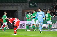 Joie Saint Etienne / Deception Evian - 21.12.2014 - Saint Etienne / Evian Thonon - 19eme journee de Ligue 1<br />Photo : Jean Paul Thomas / Icon Sport