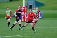 Leigh Halfpenny © in action. Wales rugby team training at the Vale, Hensol, near Cardiff in South Wales on Tuesday 13th November 2012.  pic by Andrew Orchard, Andrew Orchard sports photography,