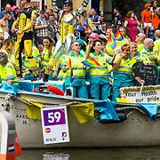 NLD/Amsterdam/20170805 - Gaypride 2017, Boot Ambulance Amsterdam