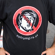 Political Humor Anti-Trump NoTrump16 T-Shirt for President on sale in Union Square Park.