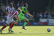 Forest Green Rovers Theo Archibald(18) runs forward during the EFL Sky Bet League 2 match between Forest Green Rovers and Cheltenham Town at the New Lawn, Forest Green, United Kingdom on 20 October 2018.