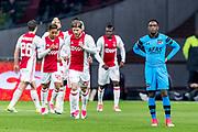 AMSTERDAM - 05-04-2017, Ajax - AZ, Stadion Arena, teleurstelling bij AZ speler Ridgeciano Haps na de 1-0 van Ajax speler Bertrand Traore