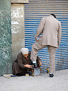 Shoe shine, Cairo, Egypt.