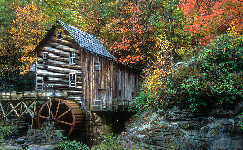 Glades Creek Grist Mill in autumn