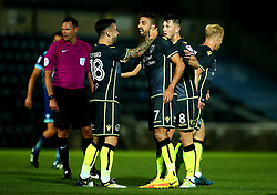 Liam Sercombe of Bristol Rovers celebrates with Dominic Telford of Bristol Rovers after scoring a goal to make it 4-1 - Mandatory by-line: Robbie Stephenson/JMP - 29/08/2017 - FOOTBALL - Adam's Park - High Wycombe, England - Wycombe Wanderers v Bristol Rovers - Checkatrade Trophy