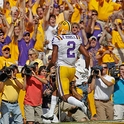 October 8, 2011; Baton Rouge, LA, USA;  LSU Tigers fans celebrate a touchdown by LSU Tigers wide receiver Rueben Randle (2) against the Florida Gators during the first quarter at Tiger Stadium.  Mandatory Credit: Derick E. Hingle-US PRESSWIRE / © Derick E. Hingle 2011
