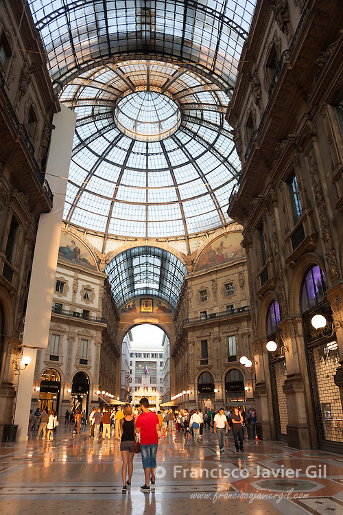 Vittorio Emanuele II gallery, Milan, Lombardy, Italy