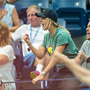 2019 US Open Tennis Tournament- Day Ten.   Elina Svitolina of the Ukraine, partner of Gael Monfils of France, reacts during his match against Matteo Berrettini of Italy in the Men's Singles Quarter-Finals match on Arthur Ashe Stadium during the 2019 US Open Tennis Tournament at the USTA Billie Jean King National Tennis Center on September 4th, 2019 in Flushing, Queens, New York City.  (Photo by Tim Clayton/Corbis via Getty Images)