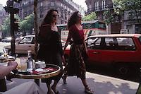 two women Bd. St. Germain, Paris