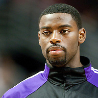 21 December 2009: Sacramento Kings guard Tyreke Evans is seen prior to the Sacramento Kings 102-98 victory over the Chicago Bulls at the United Center, in Chicago, Illinois, USA.