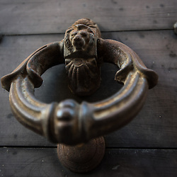 Bergamo, Italy - Traditional italian doorknob with Lion head
