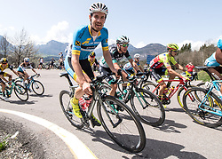 16.04.2018, Folgaria, ITA, Tour of the Alps, Italien 1. Etappe Arco nach Folgaria im Bild Stephan Rabitsch (AUT, Team Felbermayr Simplon Wels), Lukas Pöstlberger (AUT, Bora - Hansgrohe) // during the Tour of the Alps 1st stage from Arco to Folgaria, Italy on 2018/04/16. EXPA Pictures © 2018, PhotoCredit: EXPA/ Reinhard Eisenbauer