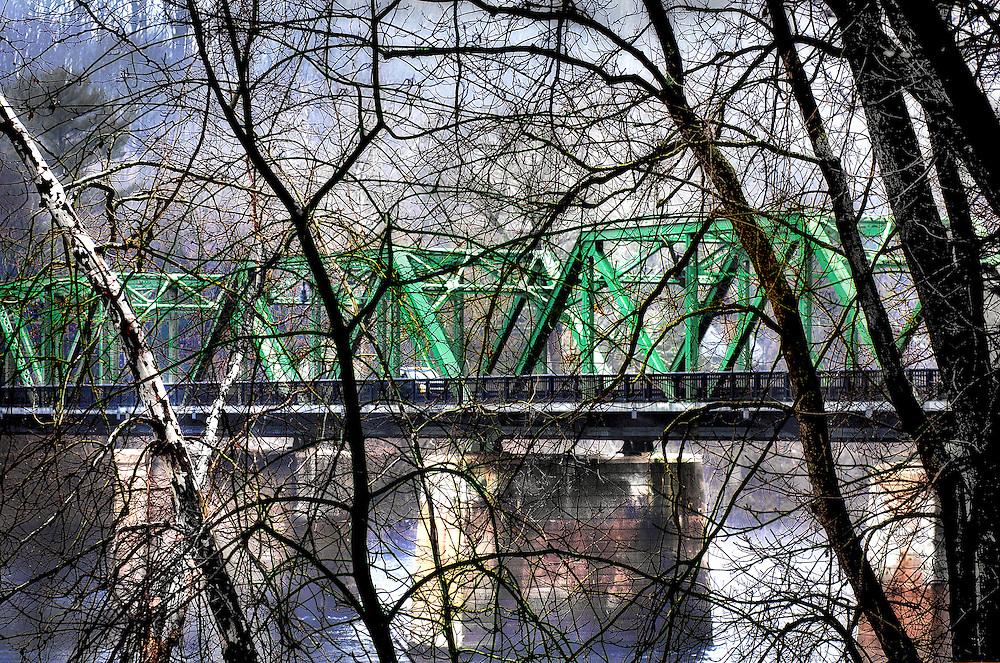 Delaware River bridge from Stockton, New Jersey to Centre Bridge, Pennsylvania.