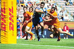 Cape Town-180217 Stomers de allende on his way to score a try against Jaguares in the opening game of the Super 15 at Newlands .photograph:Phando Jikelo/African News Agency/ANA