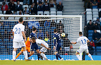 Football - 2018 / 2019 UEFA European Championship Qualifier - Group I: Scotland vs. Cyprus<br /> <br /> Ioannis Kousoulos of Cyprus scores to make it 1-1 during the European Championship Qualifying match between Scotland and Cyprus, at Hampden Park, Glasgow.<br /> <br /> COLORSPORT/BRUCE WHITE