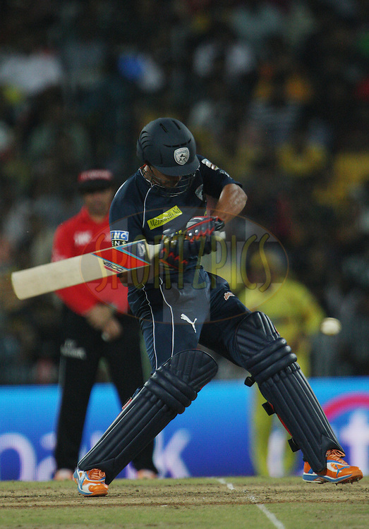 Bharat Chipli during match 39 of the Indian Premier League ( IPL ) Season 4 between the Chennai Superkings and The Deccan Chargers held at the MA Chidambaram Stadium in Chennai, Tamil Nadu, India on the 1st May 2011..Photo by Jacques Rossouw/BCCI/SPORTZPICS .