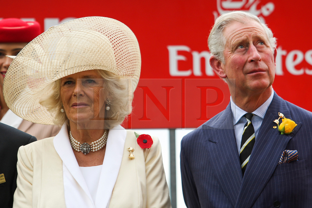 © Licensed to London News Pictures. 06/11/2012. Their Royal Highnesses, The Prince of Wales, Prince Charles and The Duchess of Cornwall, Camilla Parker Bowles during during the Emirates Melbourne Cup at the Flemington Racecourse, Melbourne. Photo credit : Asanka Brendon Ratnayake/LNP