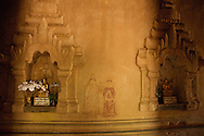 Buddhas and paintings, Bagan Temple
