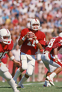 COLLEGE FOOTBALL:  Stanford vs UCLA on October 3, 1987Y at Stanford Stadium in Palo Alto, California.  Scott Stark #11.  Photograph by David Madison ( www.davidmadison.com ).